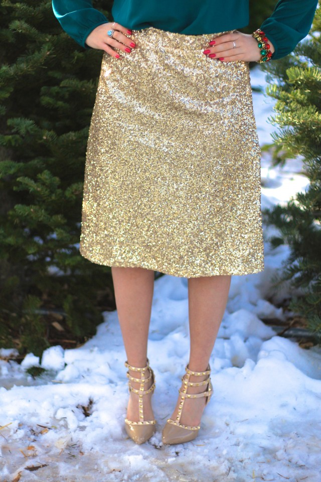 Gold Sequin Skirt 8