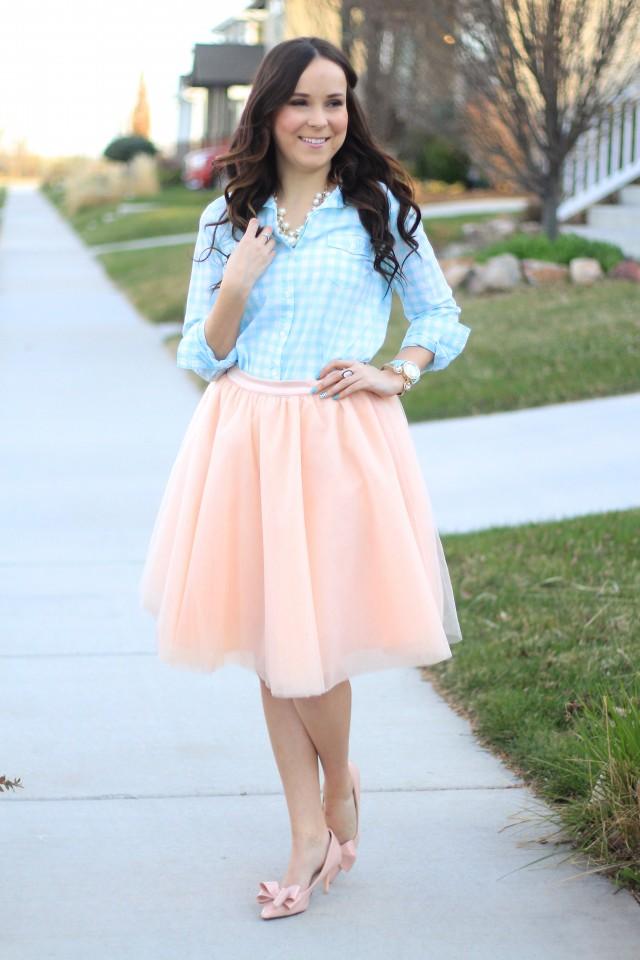 pink tulle skirt