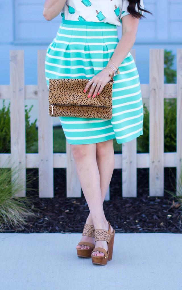 Mint Striped Skirt Neesees Dresses (1 of 27)