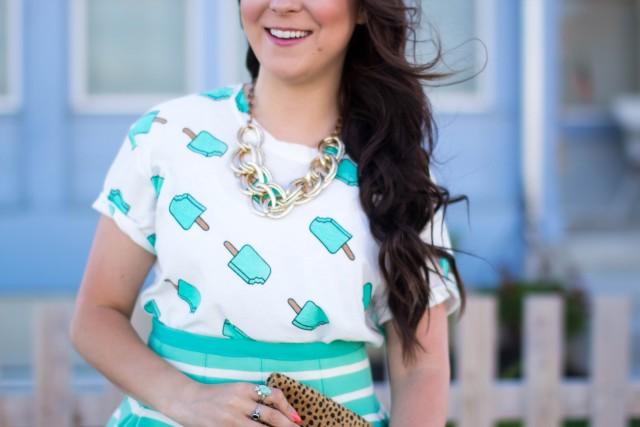 Mint Striped Skirt Neesees Dresses (17 of 27)