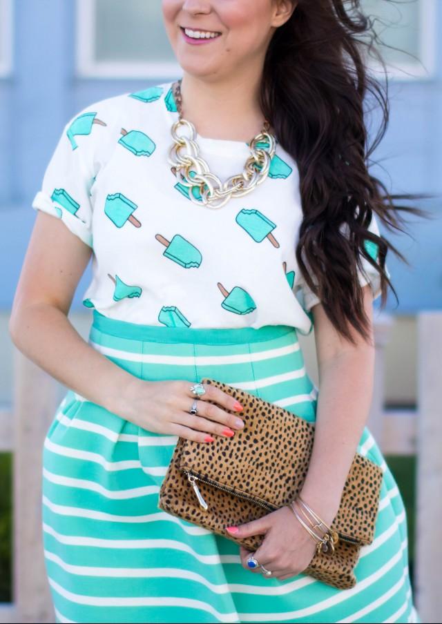 Mint Striped Skirt Neesees Dresses (20 of 27)