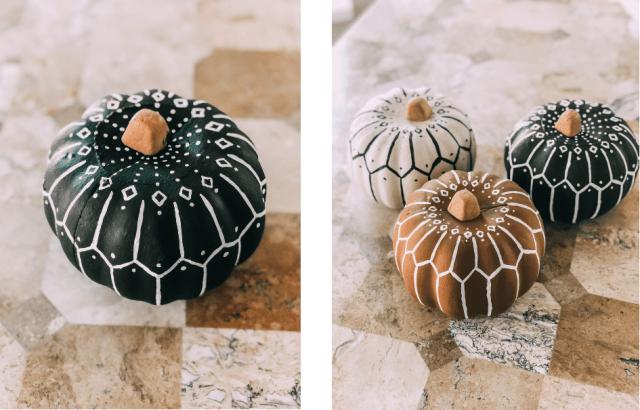 DIY Dollar Store Bohemian Pumpkin Tutorial