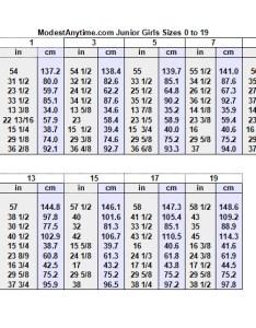 Modestanytime junior girls also size charts modest anytime rh
