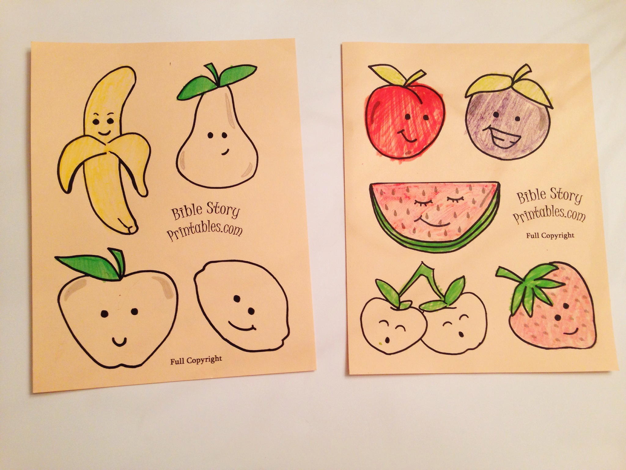 Easy Fruit Of The Spirit Kids Craft Sunday School Crafts
