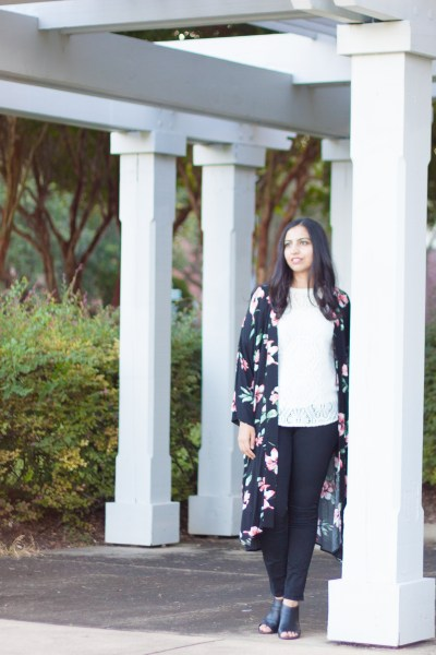 what to wear at ISNA floral kimono