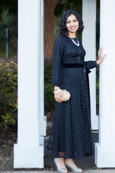 vintage sale shopping modest gown