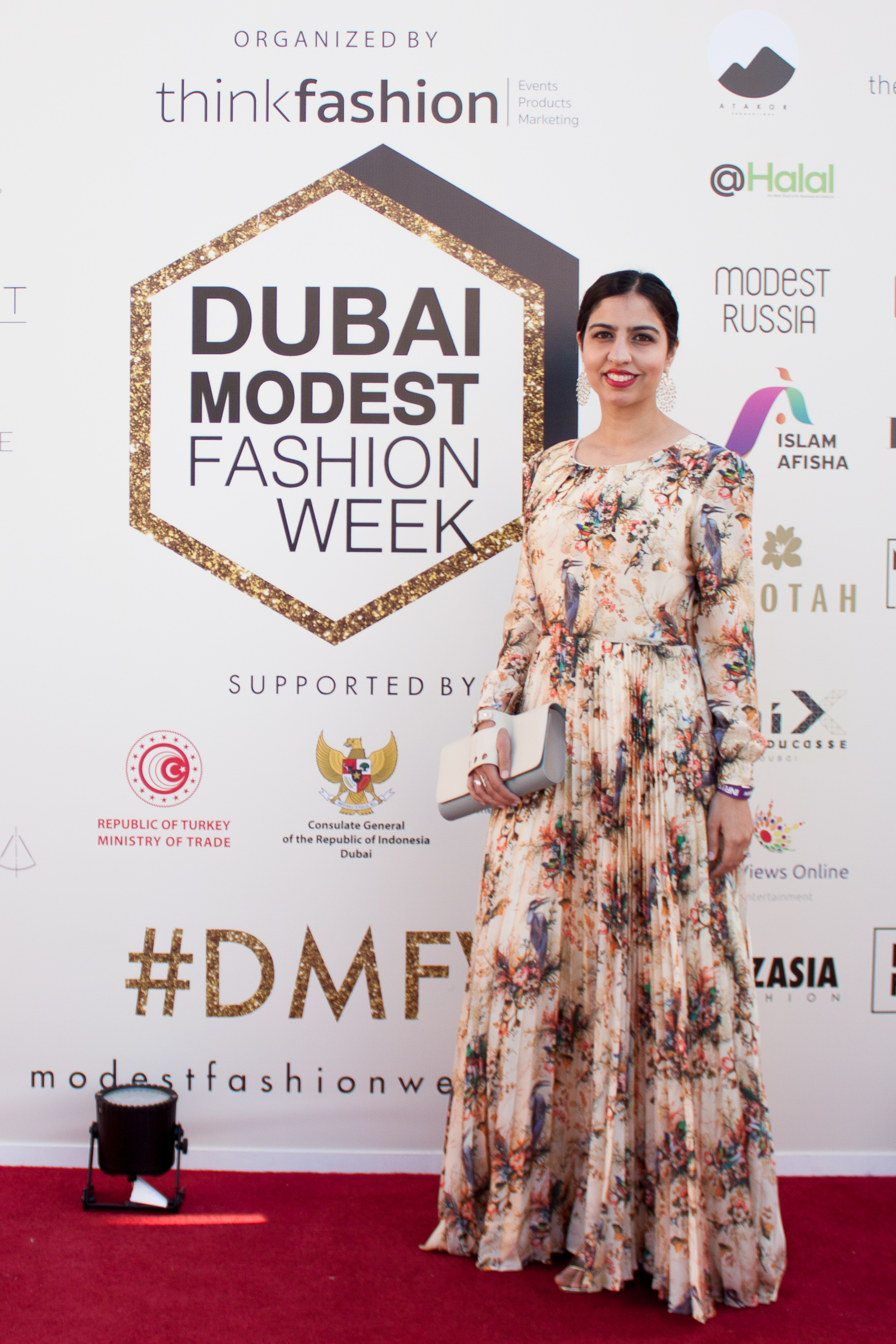 dubai modest fashion week red carpet dress
