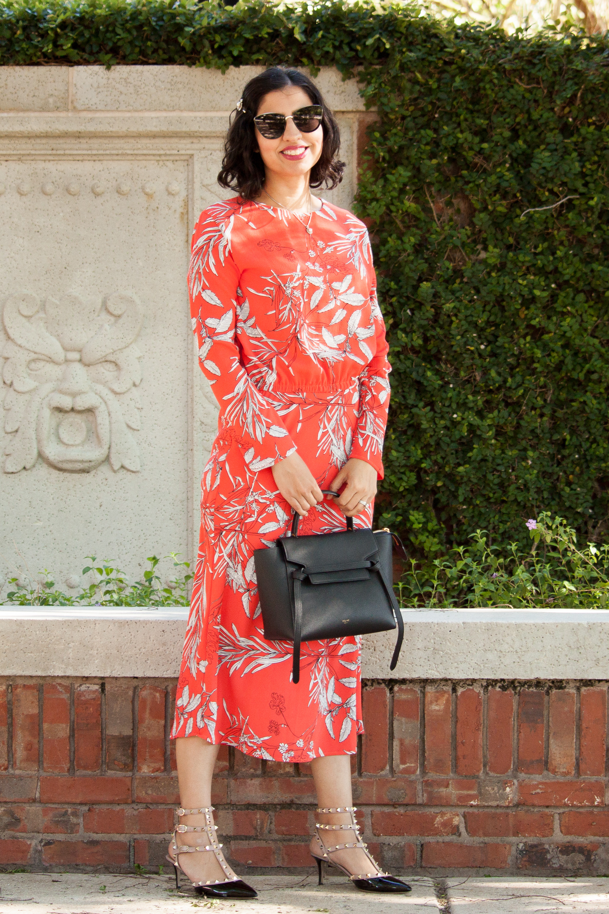 Raju Official Liana dress in coral