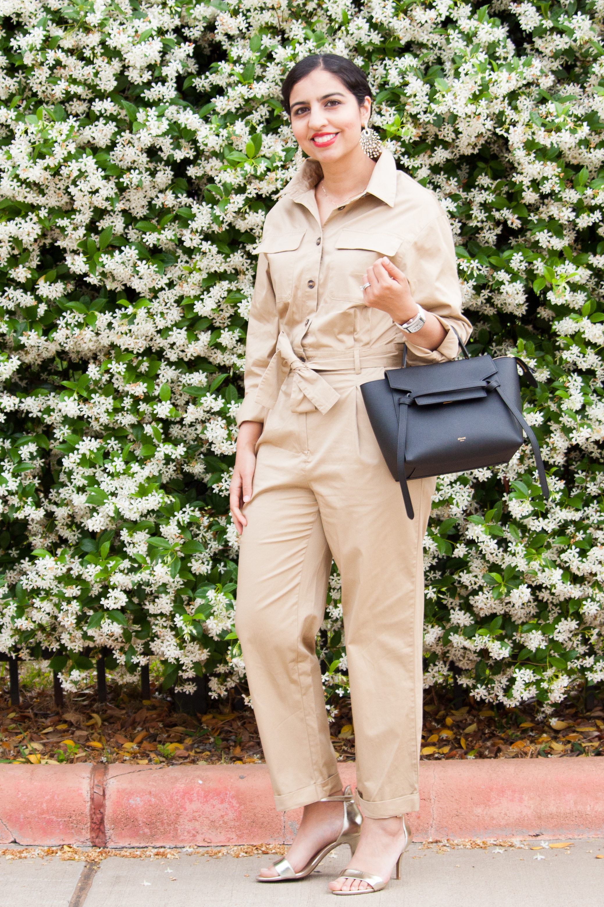 modest spring pieces khaki jumpsuit