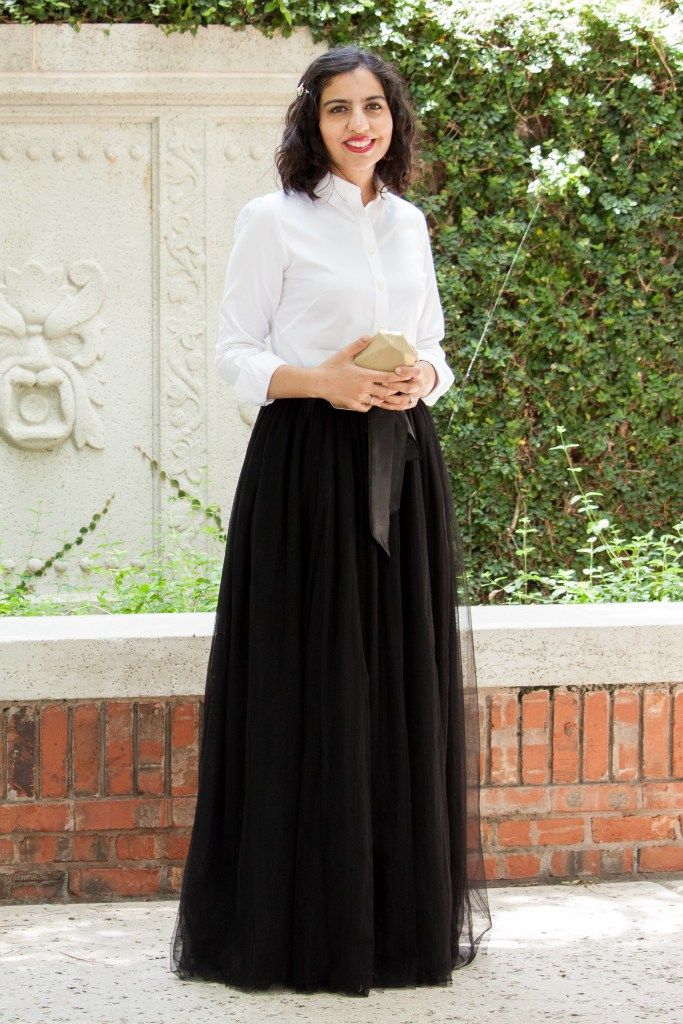 modest christmas party dresses tulle skirt and white shirt