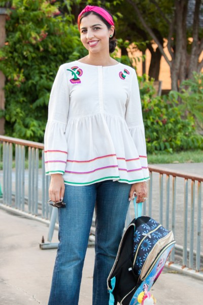 back to school fashion for moms peplum top