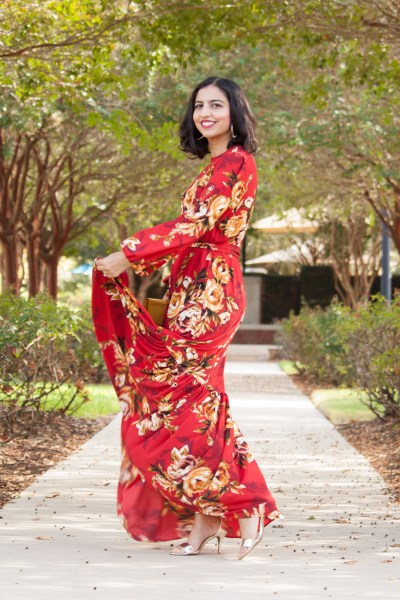 modest dress by louella red maxi dress