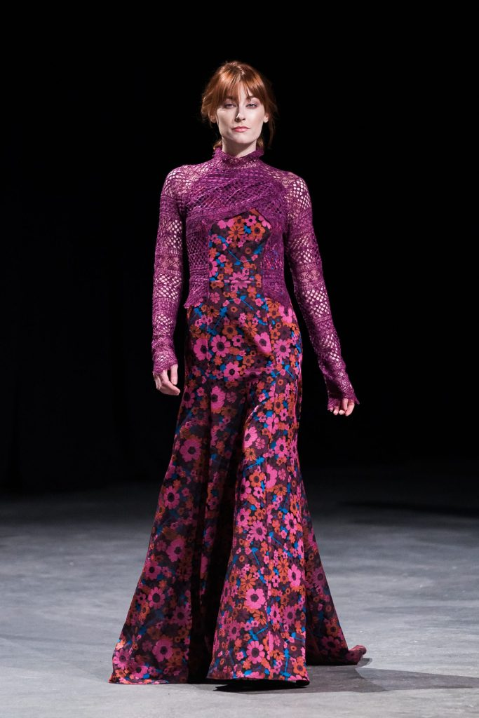 David Peck floral gown