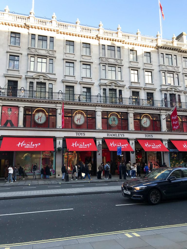 things to do in London with kids in winter Hamley's toy store
