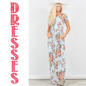 Modest Women and Teen's Dresses from Small to Plus Size