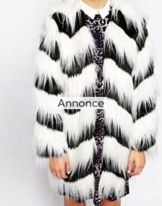 Glamorous Contrast Faux Fur Coat rabatkode asos rabatkoder