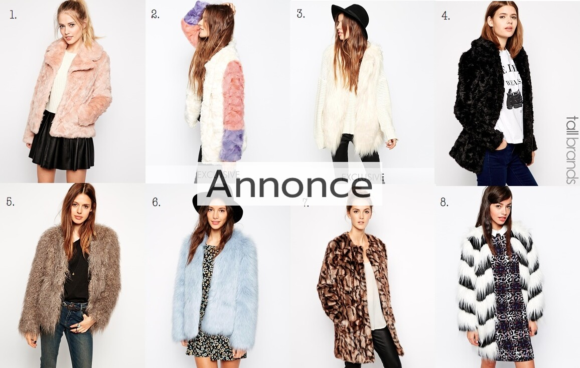 faux fur jakke med pels jakker coat fake udsalg online rabat