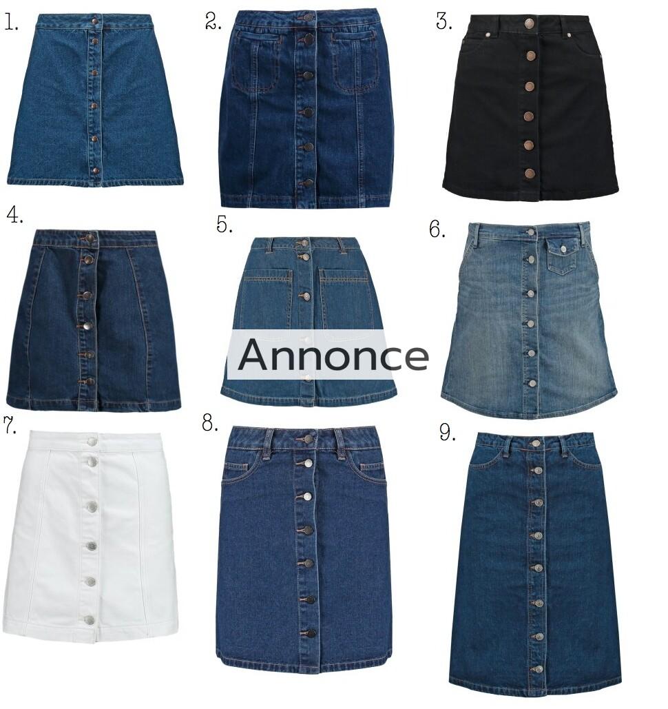 denim nederdel med knapper skirt skirts cowboy