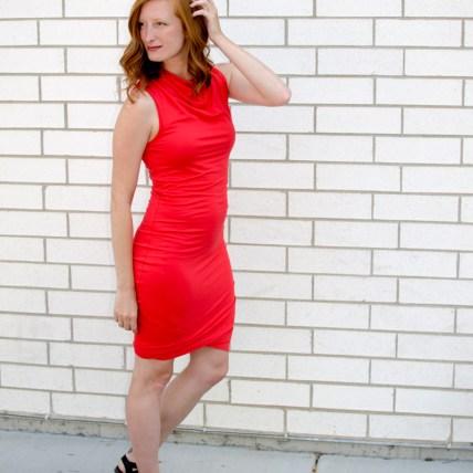 Red Twist Dress