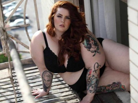 tess-holliday Famous Plus size model in the media