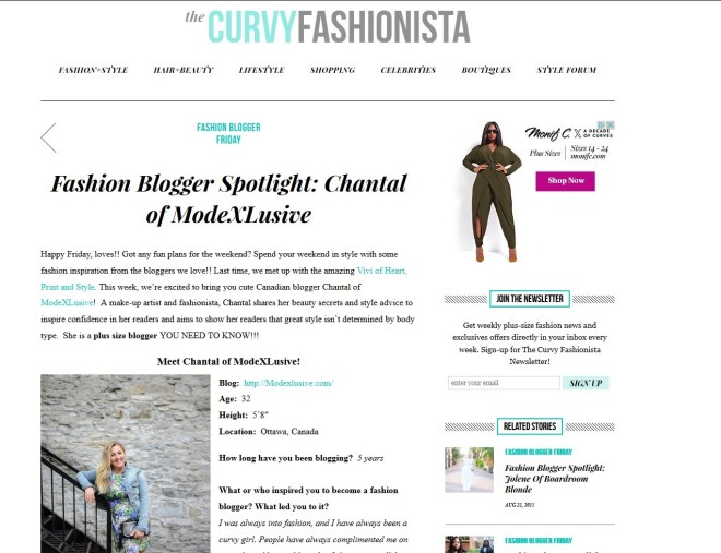 The Curvy Fashionista's Fashion Blogger Spotlight: Chantal of ModeXLusive