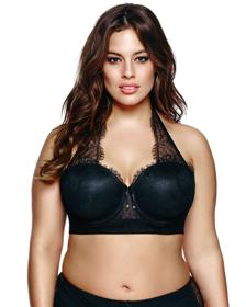additionelle_Ashley Graham Phenomenon Halter Black bra