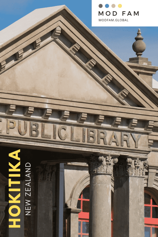 A close-up photo of Hokitika, New Zealand's archaic Free Public Library, the Carnegie Building, now a museum of the West Coast and Westland.