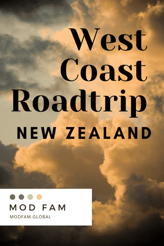 Tour New Zealand - South Island Itinerary: Fox Glacier. Billowing clouds at sunset, high over the Haast Highway on New Zealand's West Coast between Fox Glacier and Haast.