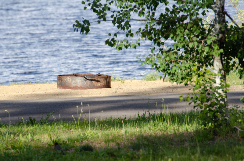 Active Recreation - a fire pit near the lake shore at Lake Cascade State Park.