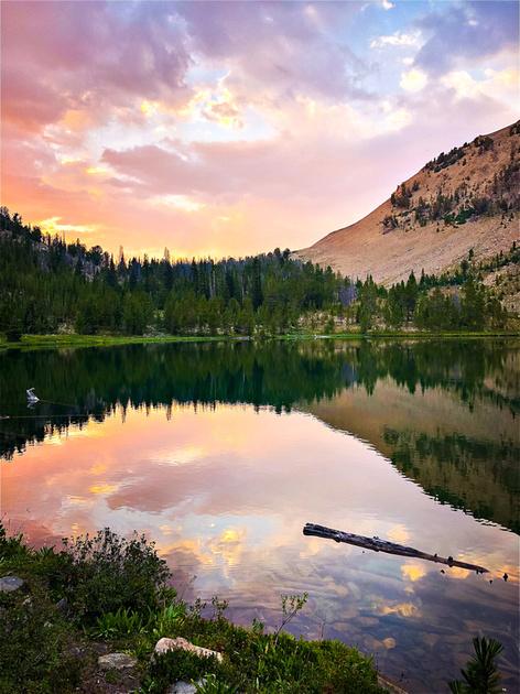 Washington Lake, in the White Cloud Wilderness Recreation Area, Idaho.