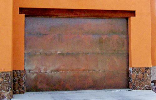 copper garage door  M O D F R U G A L