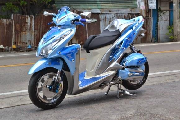 50 Gambar Modifikasi Honda Vario Keren  Antik  Modif Drag