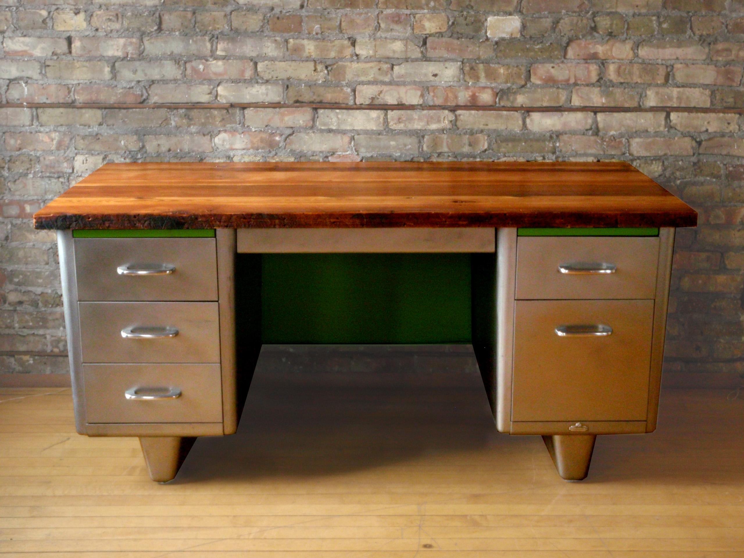 Reclaimed Wood  Steel Desk  MODifiedLLC