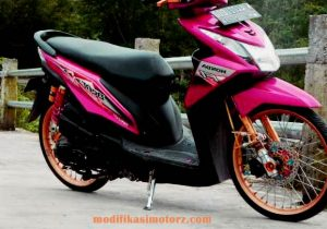 Motor Modifikasi Terkini Modifikasi Motor Beat Standar Warna Ungu