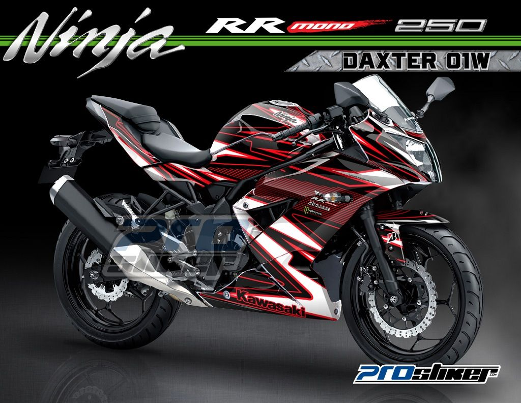 Modifikasi Ninja 250 RR Mono Custom Graphic Full Body