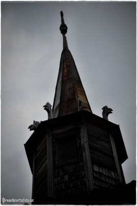 The church tower whit dragon heads,,