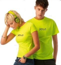 T-shirt Yellow Fluo