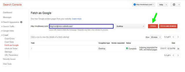 ایندکس سریع در گوگل