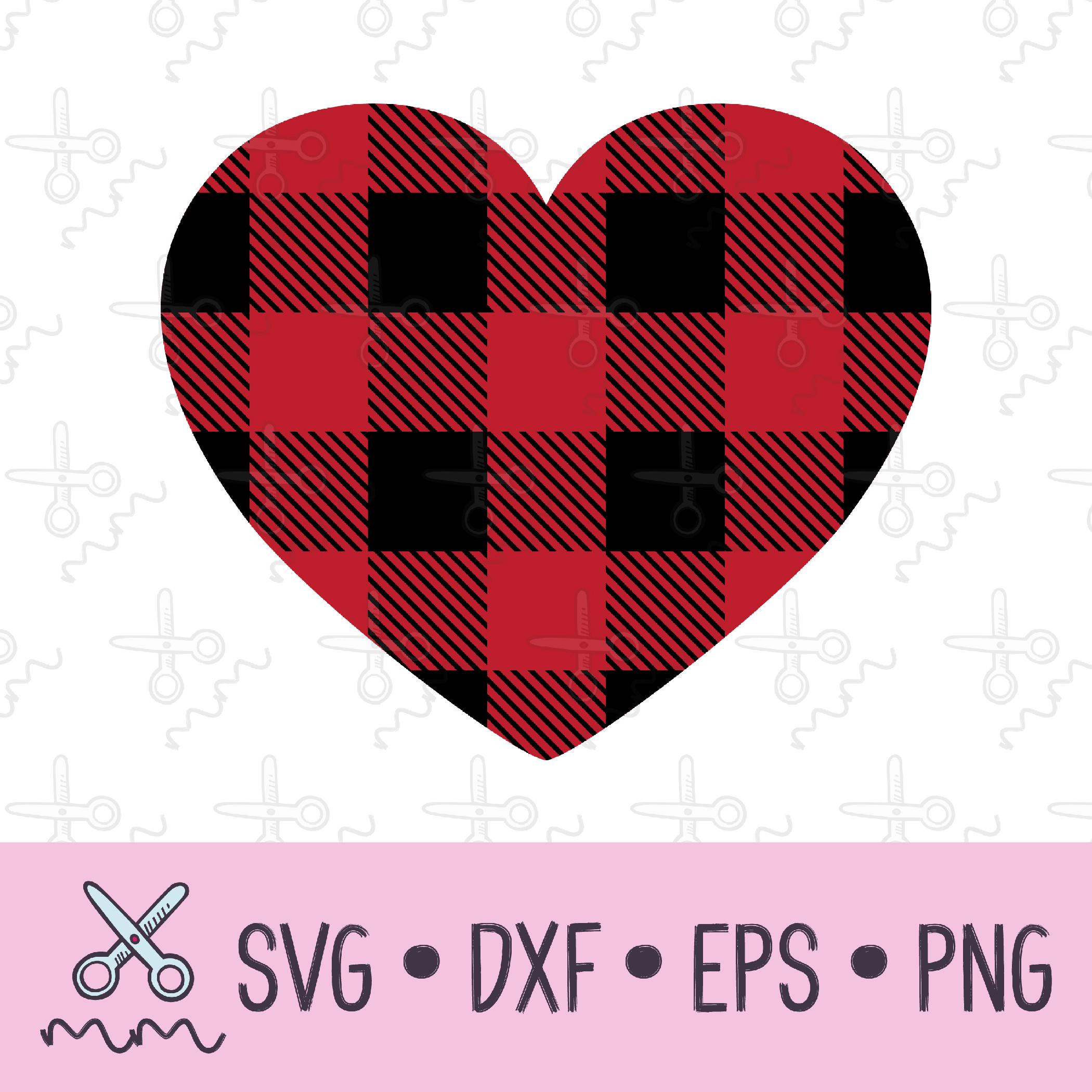 Download Plaid Heart SVG - The Modish Maker