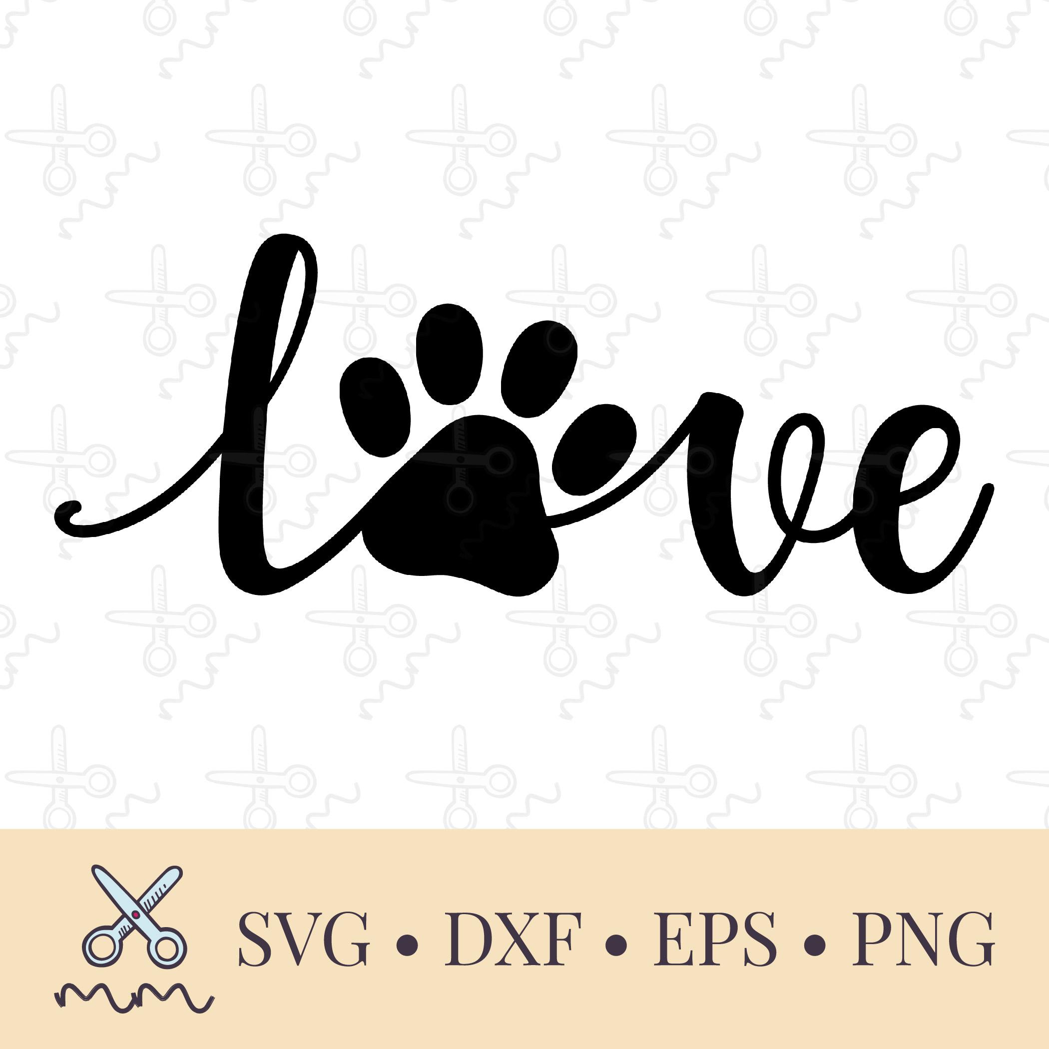 Download Dog Love Paw Print SVG - Mom of Boys SVG - The Modish Maker