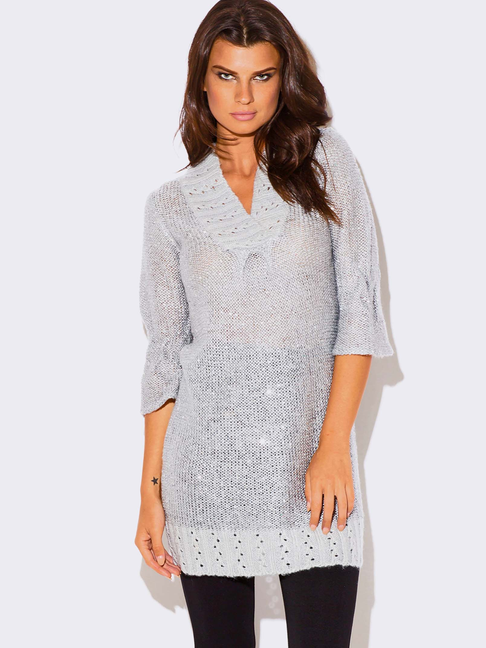 Sweater with Sequin Dress