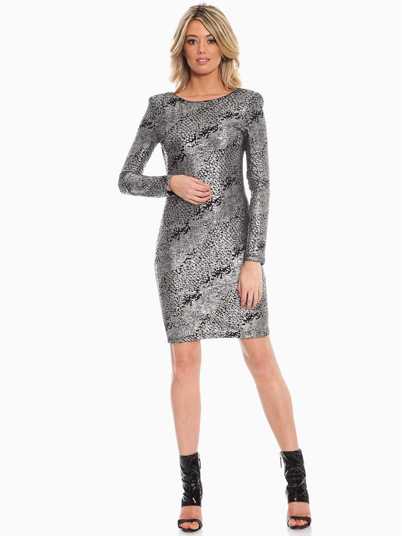 Red Loft Collection Silver Liquid Cocktail Dress