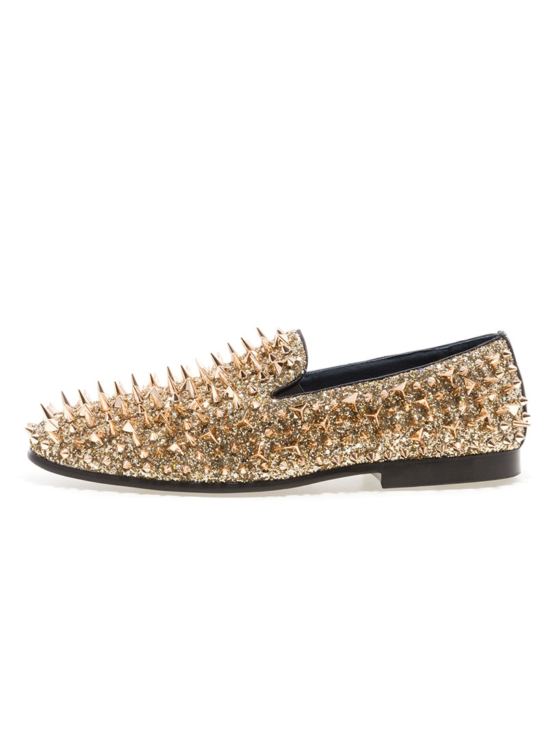 JUMP NEWYORK Lord Gold Spike Loafers  ModishOnlinecom