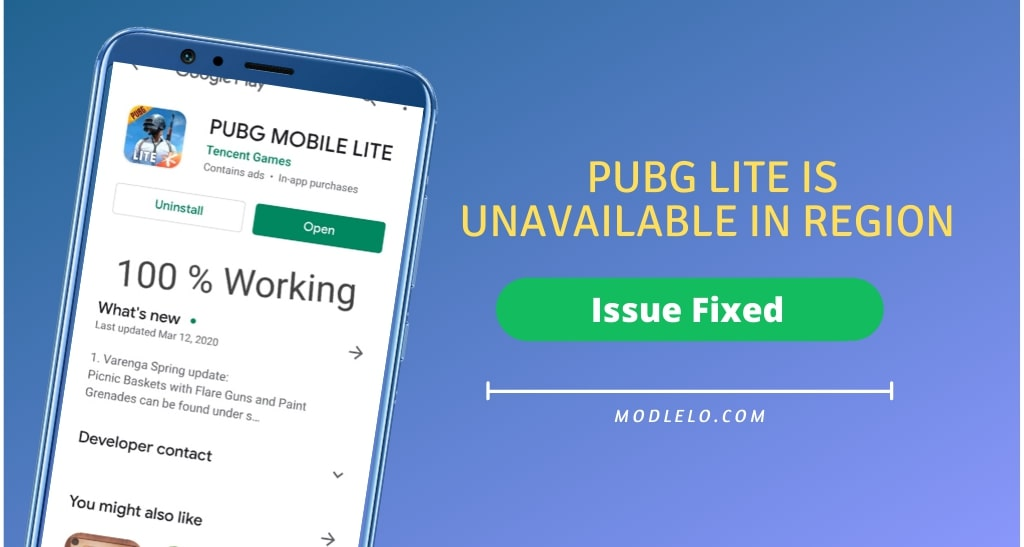 Pubg Lite Is Unavailable In Your Region (issue fixed)