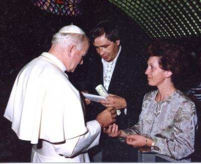 Zázračné uzdravenie Ugo Festa pred ikonou Božieho milosrdenstva 2