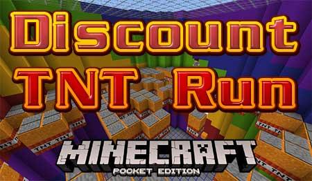 Карта Discount TNT Run для Minecraft PE
