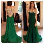 Emerald Green Mermaid Prom Dress