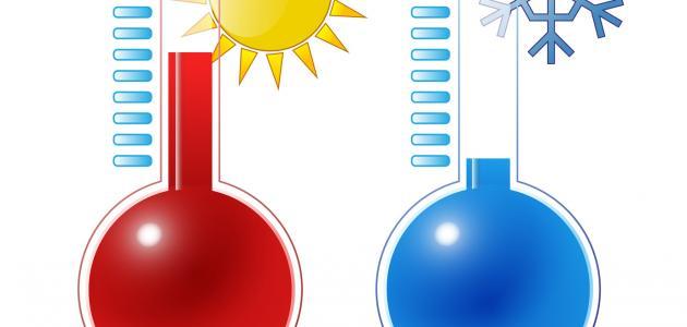 ما المقصود بدرجة الحرارة موضوع