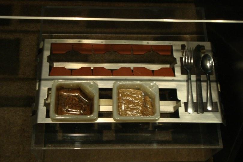 Exemplo de refeição consumida pelos astronautas no espaço