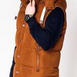 Men S Quilted Vest V25 Camel Modone Wholesale Clothing For Men